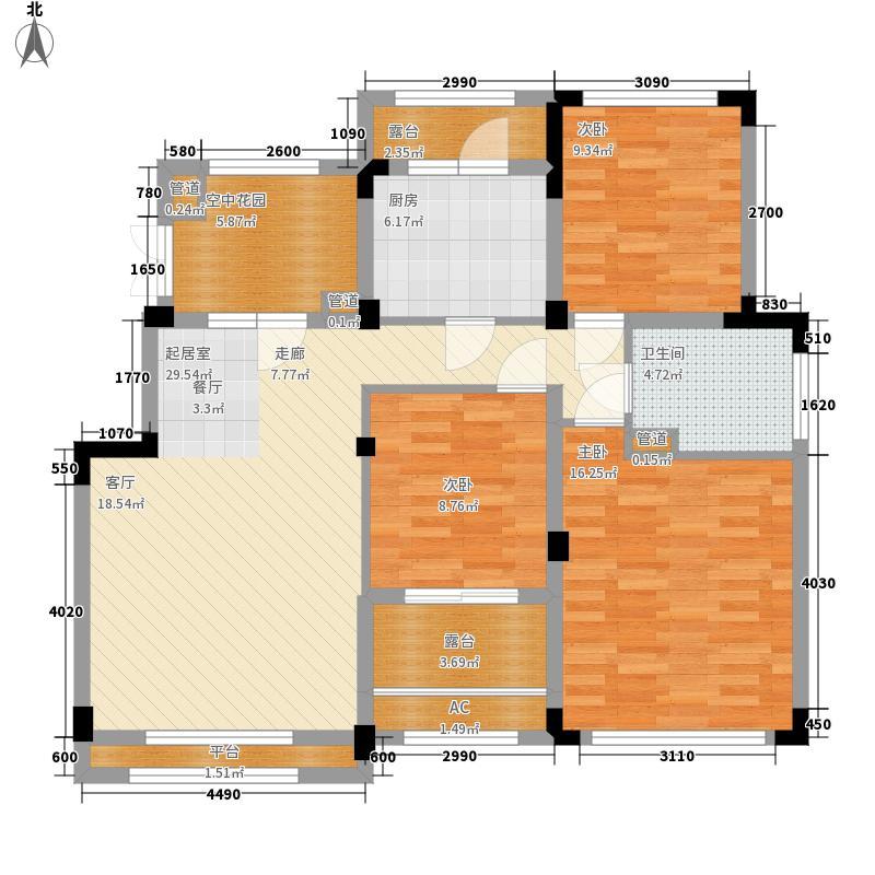 郑州正商红河谷105.00㎡正商红河谷电梯洋房E户型3室2厅