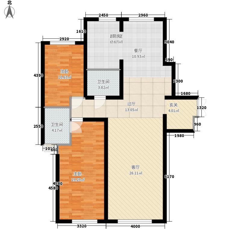 金色江湾户型2室2厅