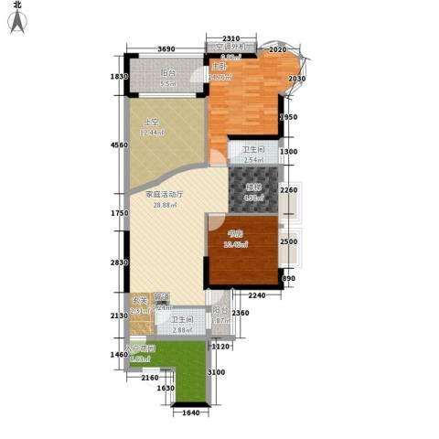 瑞安花园2室0厅2卫0厨249.00㎡户型图