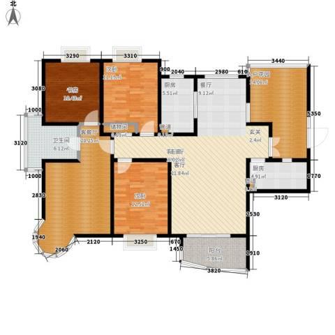 红谷凯旋3室2厅1卫2厨162.00㎡户型图