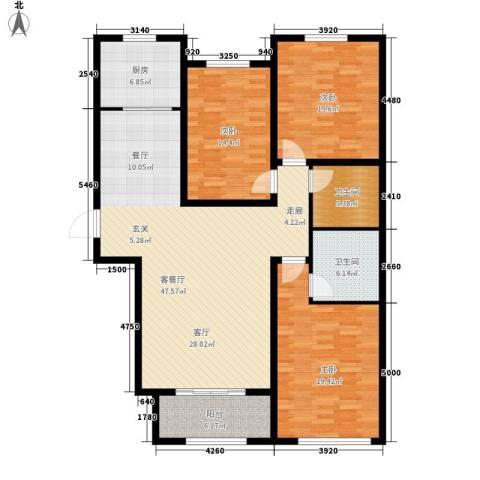 花香漫城3室1厅2卫1厨170.00㎡户型图