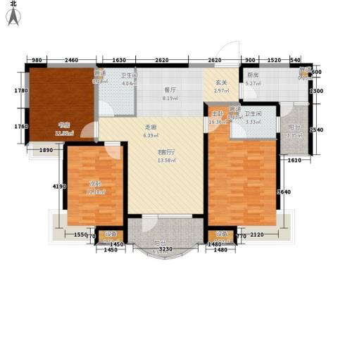 红谷凯旋3室1厅2卫1厨119.00㎡户型图
