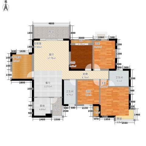钱隆樽品4室0厅2卫1厨135.00㎡户型图
