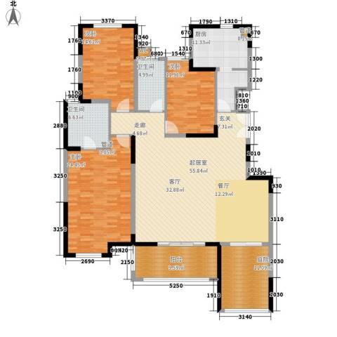 钱隆樽品3室0厅2卫1厨171.00㎡户型图