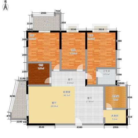 天心华庭4室0厅2卫0厨163.00㎡户型图