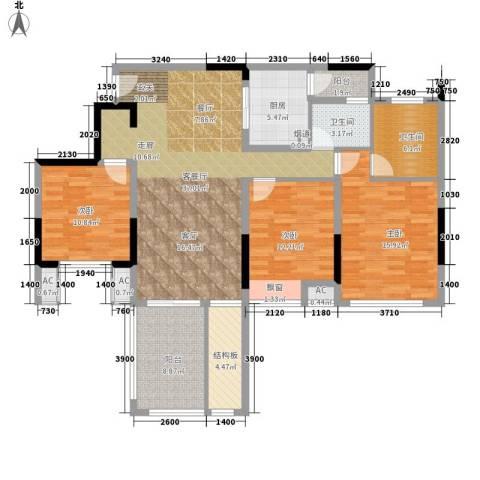 首信皇冠假日3室1厅2卫1厨109.00㎡户型图