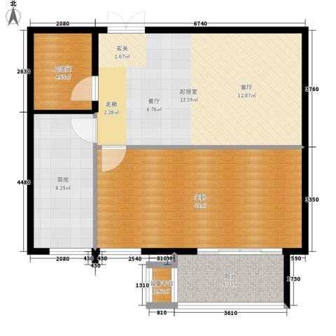 高远丽都1室0厅1卫1厨70.00㎡户型图