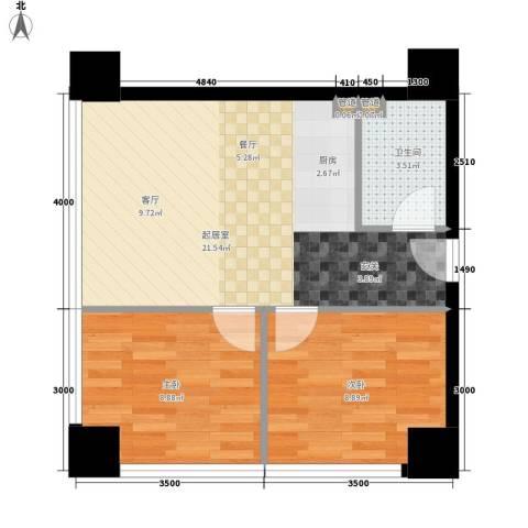 中华城2室0厅1卫0厨72.00㎡户型图