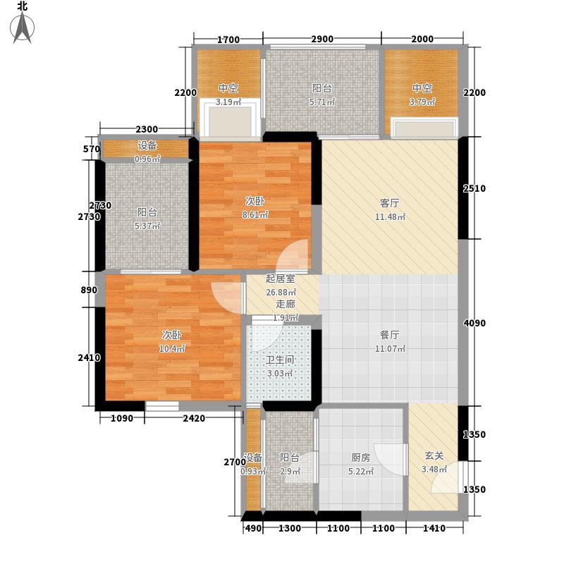锦江城市花园(锦江)82.25㎡三期面积8225m户型