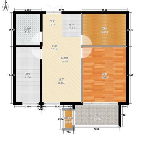 高远丽都2室0厅1卫1厨70.00㎡户型图