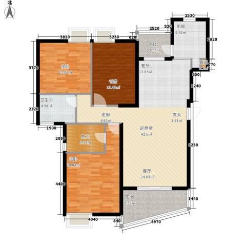 天赐良园3室0厅1卫1厨131.00㎡户型图