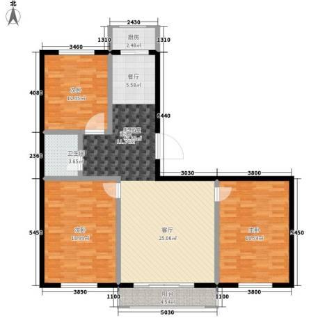 凯悦花园3室0厅1卫1厨117.00㎡户型图