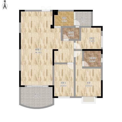 新世纪花园1室1厅2卫1厨146.00㎡户型图