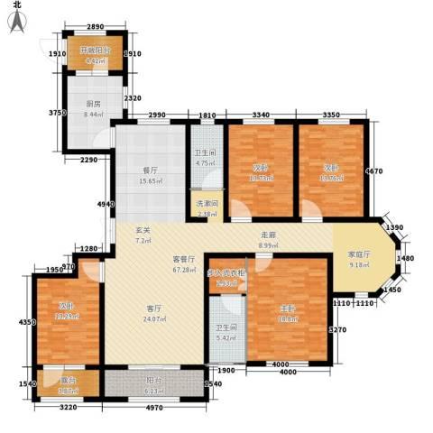 花香漫城4室1厅2卫1厨231.00㎡户型图