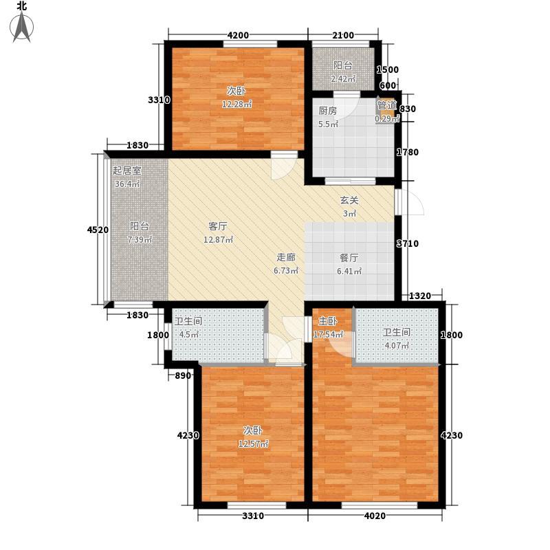 远大中央公园使用面积9262+户型3室2厅