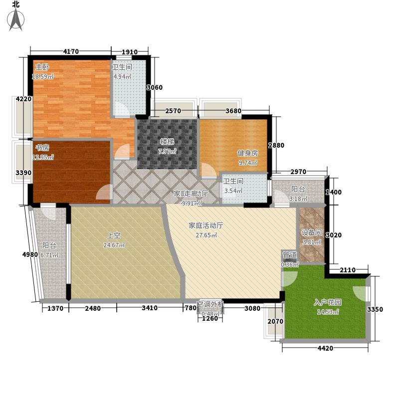 瑞安花园280.60㎡31―33层03单元5室户型
