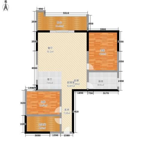 天心华庭2室0厅1卫1厨111.32㎡户型图