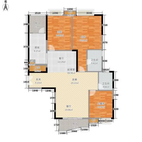 尚东宏御3室0厅2卫1厨141.00㎡户型图