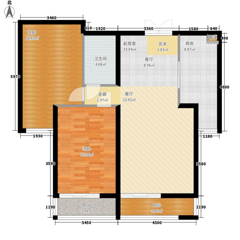 青熙境93.14㎡户型面积93.14户型2室2厅1卫