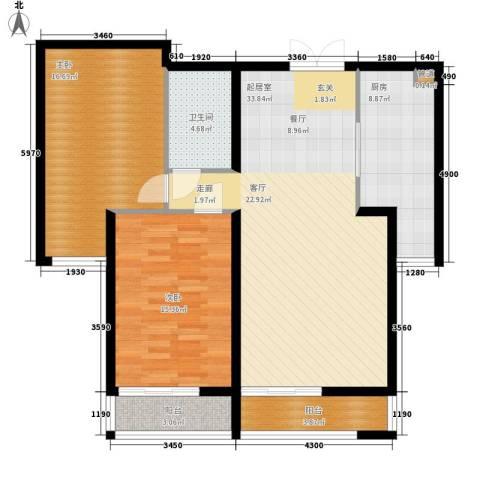 青熙境2室0厅1卫1厨93.00㎡户型图
