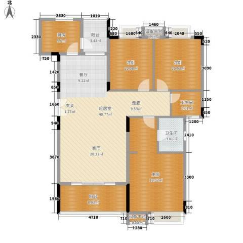 华南御景园3室0厅2卫1厨130.00㎡户型图