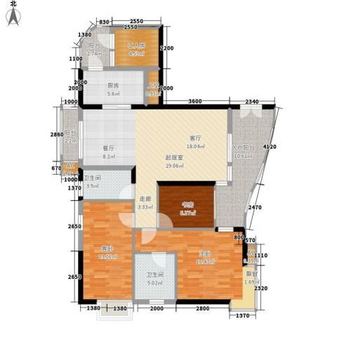 尚东宏御3室0厅2卫1厨136.00㎡户型图