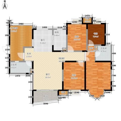 红谷凯旋4室1厅2卫1厨182.00㎡户型图
