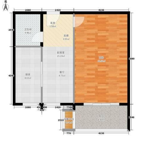 高远丽都1室0厅1卫1厨69.00㎡户型图