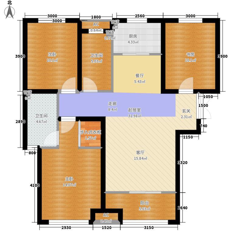 想象国际129.57㎡I1户型3室2厅