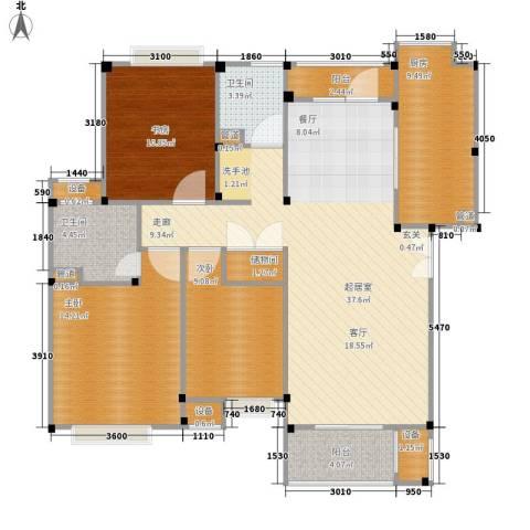 万科优诗美地3室0厅2卫1厨136.00㎡户型图