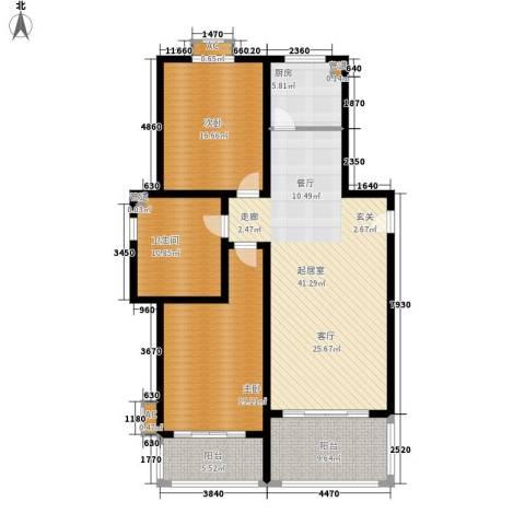 博仕名筑2室0厅1卫1厨128.00㎡户型图