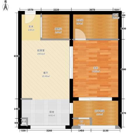 博仕名筑1室0厅1卫0厨65.00㎡户型图