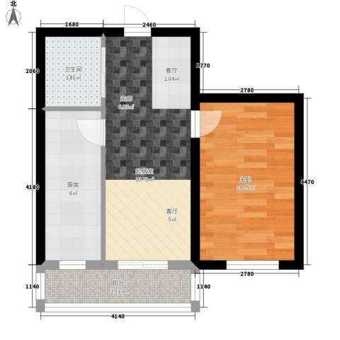 凯悦花园1室0厅1卫1厨43.00㎡户型图