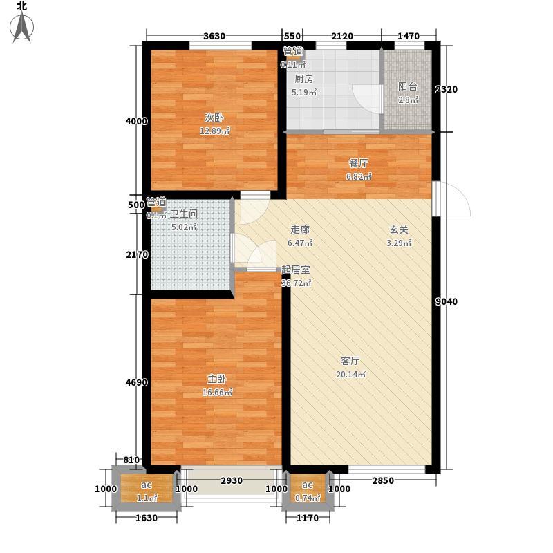 中国城建伦敦公元93.00㎡G4户型2室2厅