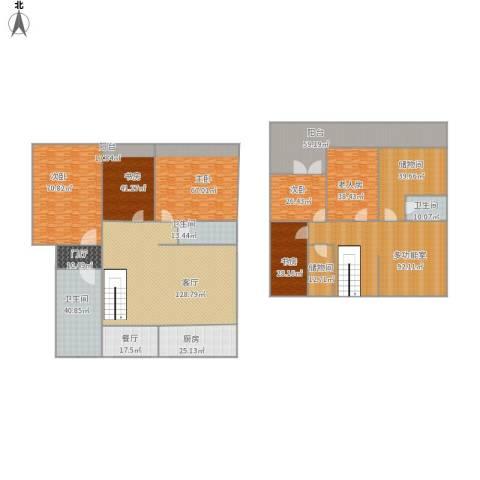 怡心苑6室2厅3卫1厨935.00㎡户型图