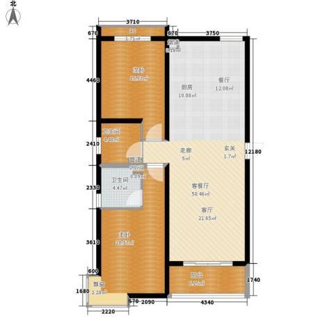 上城尔湾2室1厅2卫0厨116.00㎡户型图