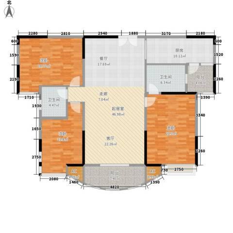 尚东宏御3室0厅2卫1厨135.00㎡户型图