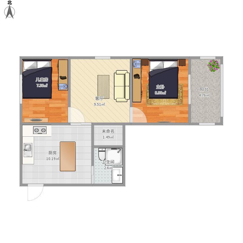 新庄新村两室一厅
