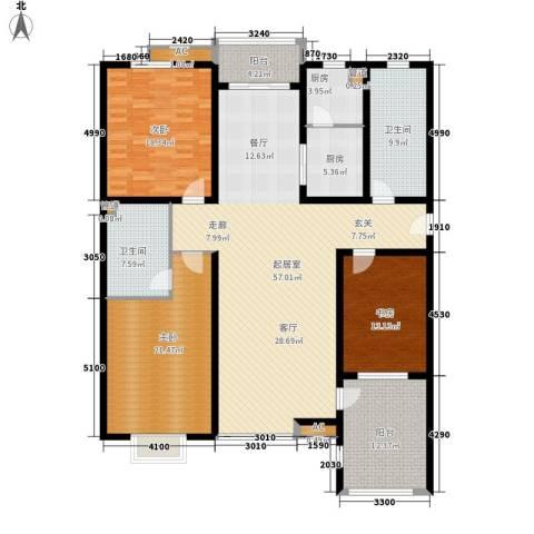 博仕名筑3室0厅2卫2厨174.00㎡户型图