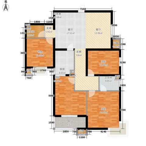 上城浩林园4室0厅2卫1厨136.00㎡户型图