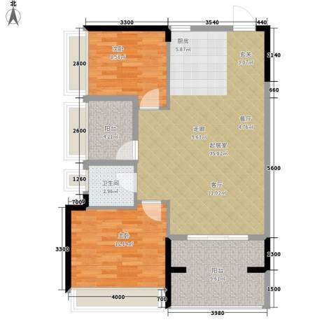 振业小区2室0厅1卫0厨102.00㎡户型图