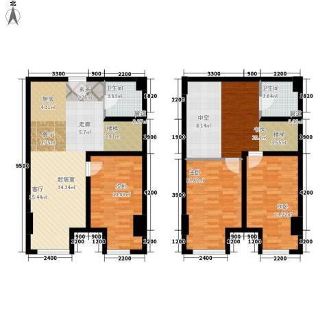 金岸4室0厅2卫0厨102.03㎡户型图