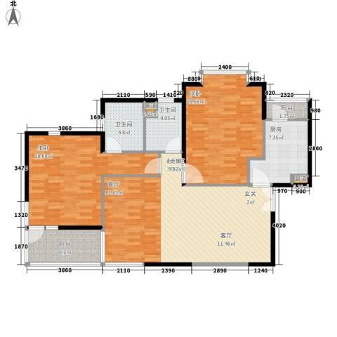 东方剑桥2室0厅2卫1厨138.00㎡户型图