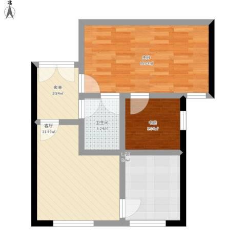 中国铁建・梧桐汇2室1厅1卫1厨67.00㎡户型图