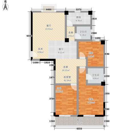 御景名苑3室0厅2卫1厨142.00㎡户型图