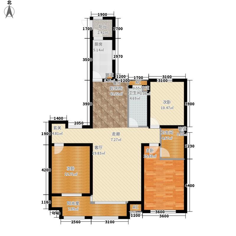 想象国际156.05㎡北区楼王5#U户型3室2厅