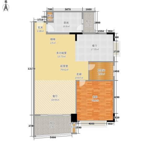 华南御景园1室0厅1卫1厨150.00㎡户型图