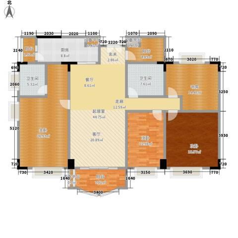 华南御景园4室0厅2卫1厨174.00㎡户型图