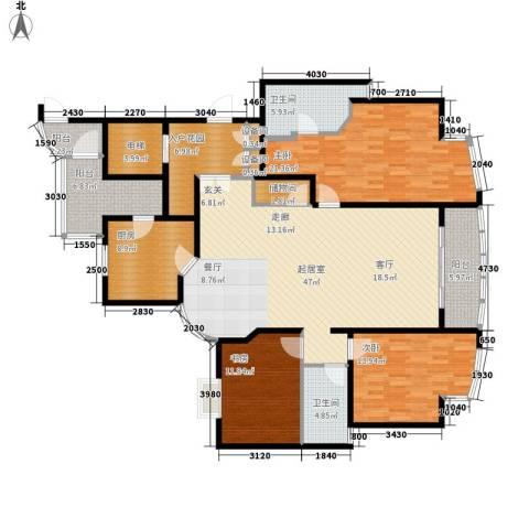 强生古北花园3室0厅2卫1厨200.00㎡户型图