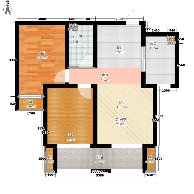 想象国际85.89㎡B户型2室2厅